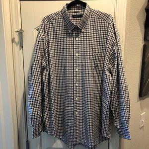 Men's Nautica long sleeve button up shirt